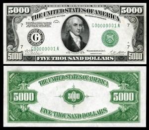 US-$5000-FRN-1928-Fr-2220g